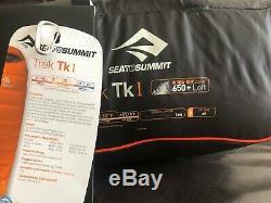 NEW Sea to Summit Trek Tk1 650+ Down Sleeping Bag LONG withCompression Sack