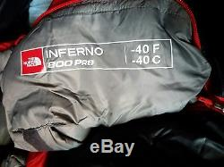 NEW TNF INFERNO -40 Waterproof Goose Down Expedition Sleeping bag REGULAR