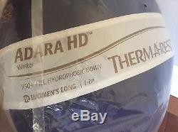 NEW Thermarest Adara HD Sleeping Bag Hydrophobic Down 22 Deg 4 Season $595