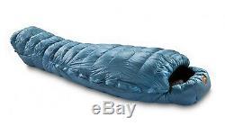 NEW Valandre Shocking Blue 850 Fill Goose Down Sleeping Bag Large Left Zip