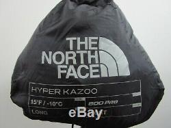 NWT Unisex Long RH The North Face TNF Hyper Kazoo Down 15F / -9C Sleeping Bag