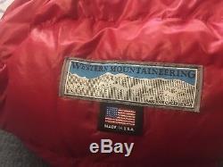 NWT Western Mountaineering Apache SMF 15 Degree Down Sleeping Bag 6'6 Left Zip
