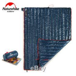 Naturehike Ultralight Goose Down Camping Sleeping Bag Portable Splicing Envelope