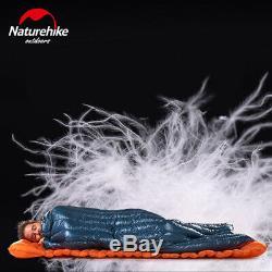 Naturehike Ultralight White Goose Down Sleeping Bag Envelope Camping Waterproof