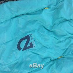 Nemo Rave 30 Long Women's Duck Down Sleeping Bag Sea Glass/Lemon 74x31