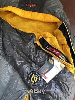 Nemo Sonic 850 Down 15 Long Sleeping Bag Carbon/lightning Never Used Brand New