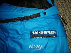New Feathered Friends Snowbunting EX 0 Sleeping Bag Ocean Blue Reg Length