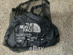 North Face Blue Kazoo Sleeping Bag HIGH RISE GREY/HYPER BLUE Long/Left NWT