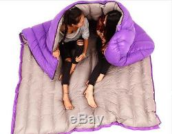 Outdoor Camping Hiking Ultralight Envelope Double Down Feather Sleeping Bag O17