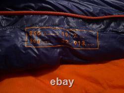 Patagonia 850 Down Sleeping Bag 17 Degree Blue/Orange. Lightweight. RARE
