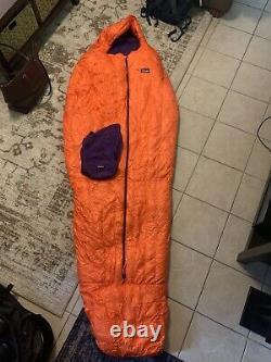 Patagonia 850 Down Sleeping Bag, Orange, Purple/, 19 F/-7 C