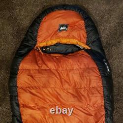 REI Goose Down 0 Degree Long Left Zipper Sleeping Bag with 750 Down Fill