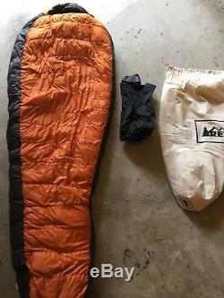 REI Halo 10-degree, 750-fill Down Mummy Sleeping Bag, Long Left Zipper