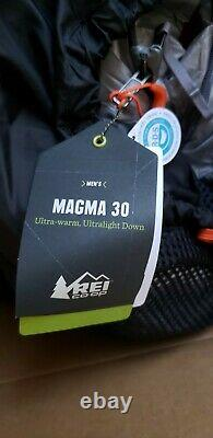 REI Men Magma 30 Sleeping Bag Pertex Quantum 850 Goose Down Fill Sz Reg UL 19 oz