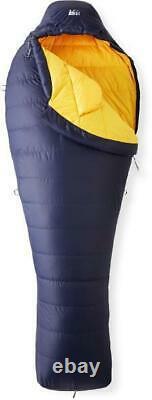 REI Radiant 19 Blue/Yellow Size Regular Down Backpacking Mummy Sleeping Bag