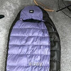REI Women Sub Kilo +15 Degree F Sleeping Bag Outdoors 750 Fill Power Goose Down