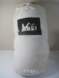 REI Womens Sub Kilo +15 Sleeping Bag (Long with Right Hand Zip) 750 Goose Down EUC