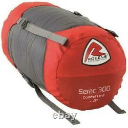 Robens Serac 300 down filled sleeping bag left zip