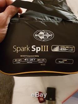 Sea To Summit Spark III 3 Down Sleeping bag OMM RAB PHD Brand New