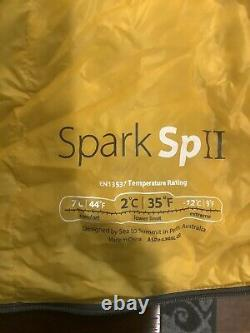 Sea to Summit Spark II Sleeping Bag, Long, 850 DriDown, New With3 bags