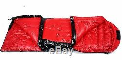 Shiny Gloss silky wet-look nylon rectangle down sleeping bag 1-3kg filling new