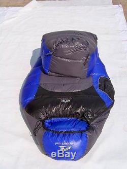 Shiny Gloss wetlook nylon mummy sleeping bag 3000g down Expedition sleeping bag