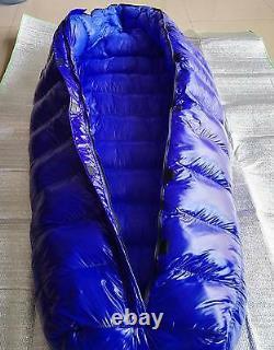 Shiny gloss wet-look nylon mummy down sleeping bag 2-5kg down filling warm new