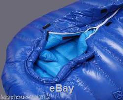 Shiny glossy nylon outdoor mummy sleeping bag 2000g goose down wetlook sport new