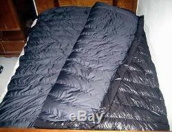 Shiny nylon big sleeping bag expedition down sleeping bags 5000g fill wet-look