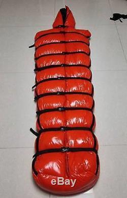Shiny wet-look nylon sleeping bag closed mummy down sleeping bags outdoor new
