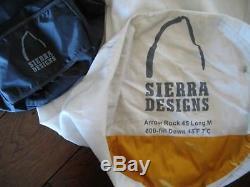 Sierra Designs 45°F ArrowRock Sleeping Bag Mummy Long 600 Fill Power Down
