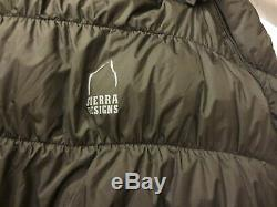 Sierra Designs BTU -20 800 Fill Goose Down DriLoft Long LZ Sleeping Bag+2Pads