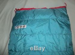 Sierra Designs Night Delight Goose Down Sleeping Bag Green Long BEAUTIFUL Quilt