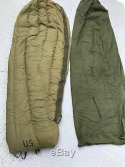 Sleeping Bag Mountain M-1949 (Reg) with Water Repellent Case M-1945 U. S. Military