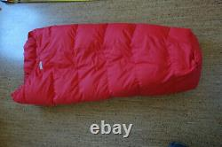 Sleeping bag, down, ultralight, for children or as halfbag Excellent condition