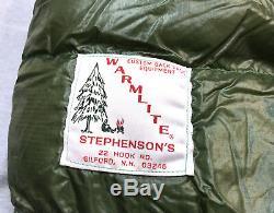 Stephenson's Warmlite 7 Feet Triple Layers Down Filled Sleeping Bag Green