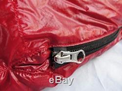 SummerLite 6'6 Down Sleeping Bag WESTERN MOUNTAINEERING, Red, ultra-lightweight