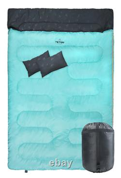 TETON Sports Cascade Double Sleeping Bag Queen Size Sleeping Bag for Camping, 2