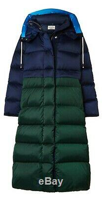 TORY BURCH/TORY SPORT Performance Satin Sleeping Bag Coat In Navy M/L