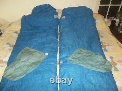 TWO Gerry Goose Down Olympic Sleeper Sleeping Bag Vintage USA PERFECT Mating Set