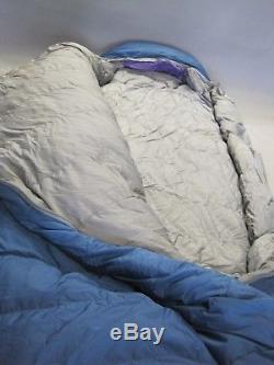The North Face Chamois Goose Down Sleeping Bag Reg w LH & 2 Stuff Sacks VGC