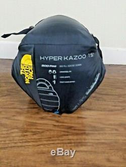 The North Face Hyper Kazoo Regular Right Hand / Down 15F Sleeping Bag $369 Mummy
