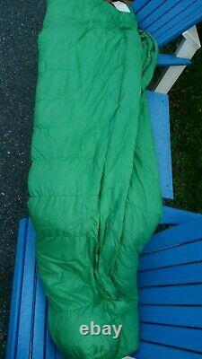 The North Face Vintage Sleeping Bag Goose Down Green 92×31 34oz Berkeley USA
