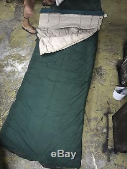 VTG Eddie Bauer Seattle USA Sleeping Bag Goose Down Twin Ducks Rare 4 Piece