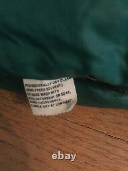 Vintage 1970s THAW Corp Down Sleeping Bag 75x30 early REI Right Zip Green RARE