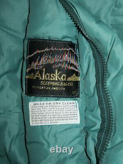 Vintage Aslaska Sleeping Bag Co Down Bag 2.5# Fill 34x84 Beaverton Oregon 0 Deg