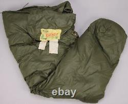 Vintage COMFY Goose Down Sleeping Bag Mummy OD Green Seattle Quilt Co