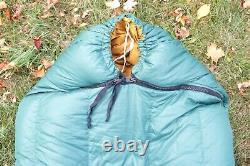 Vintage Eddie Bauer Premium Goose Down Sleeping Bag Mummy 4 Lbs Fill 34 x 86