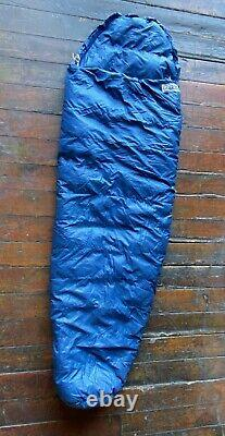 Vintage GERRY USA Goose Down 7ft Sleeping Bag Mummy NICE