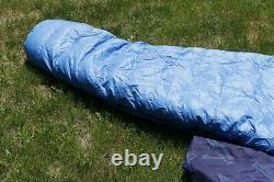 Vintage HOLUBAR Down Fill Sleeping Bag -Long Length Left Zip -Blue